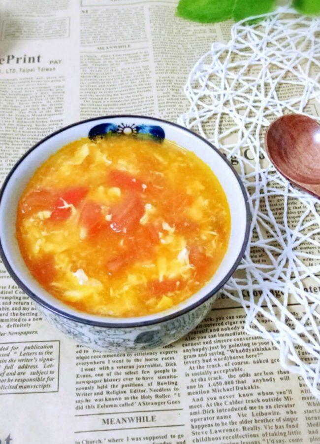Tomato Egg Drop Soup 1