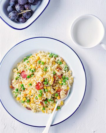 Chinese Sausage Fried Rice 2