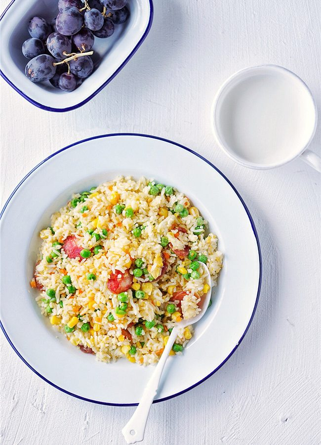 Chinese Sausage Fried Rice 2